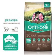 [강아지사료] 옵티원 양고기고구마 4.8kg
