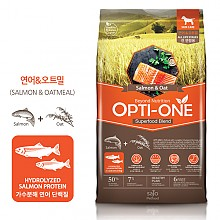 [강아지사료] 옵티원 독사료 연어오트밀 2.4kg