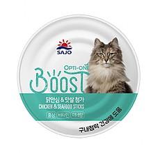 [고양이간식] 옵티원 부스트 닭,맛살 160g (24개입)